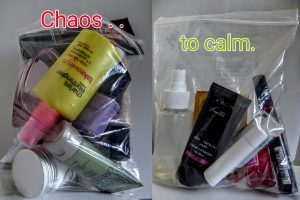 liquid handluggage packing guide plane toiletries
