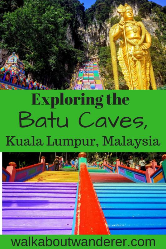 Exploring the Batu Caves in Kuala Lumpur Malaysia by Walkabout Wanderer. Keywords: Batu caves Kuala Lumpur Malaysia Things to do hindu shrine