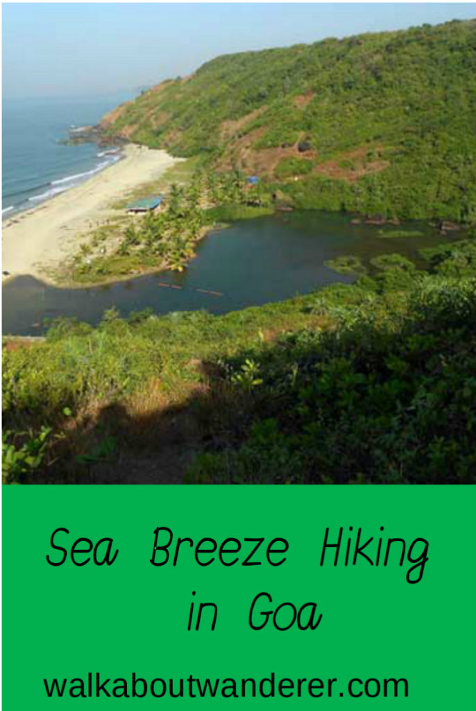 Hiking along the cliff tops of North Goa, India with Adventure Breaks by Walkabout Wanderer Keywords: female friendly travel, Adventure Breaks, Hiking in Goa, Adventure trips Goa, Things to do in Goa, Beautiful views.