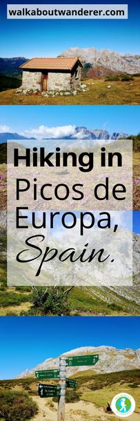 Hiking in Picos de Europa, Spain: PR-PNPE15 Prada by Walkabout Wanderer Keywords: Prada Picos de Europa hiking walking PR-PNPE15 Spain national park