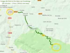 Cangas de Onís to the lakes via Covadonga Picos de Europa Spain Driving route Motorhome Camper van