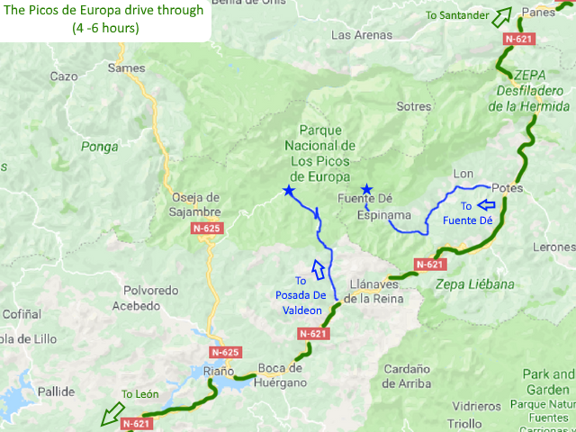 The Picos de Europa drive through Picos de Europa Spain Driving route Motorhome Camper van