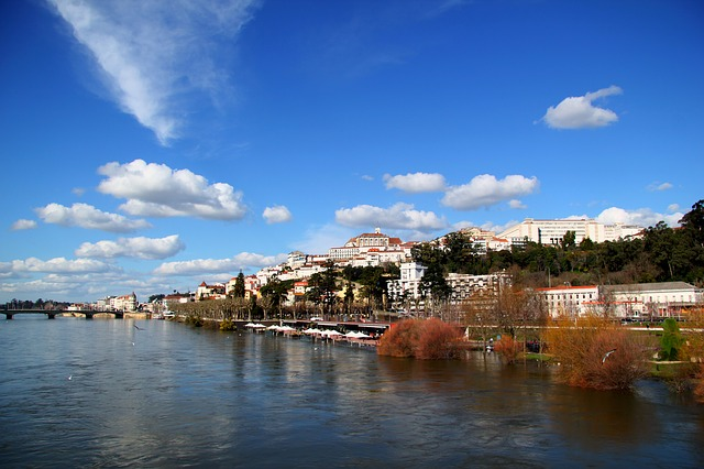 Travelling by car in Portugal Coimbra Tourist guide Portugal river Mondego