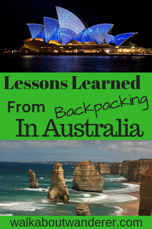 Lessons Learnt from backpacking Australia by Walkabout Wanderer