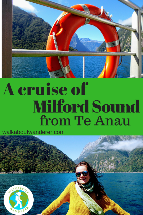Go Orange: A cruise of Milford Sound from Te Anau By Walkabout Wanderer keywords: Milford Sound from Te Anau Cheap milford sound cruise