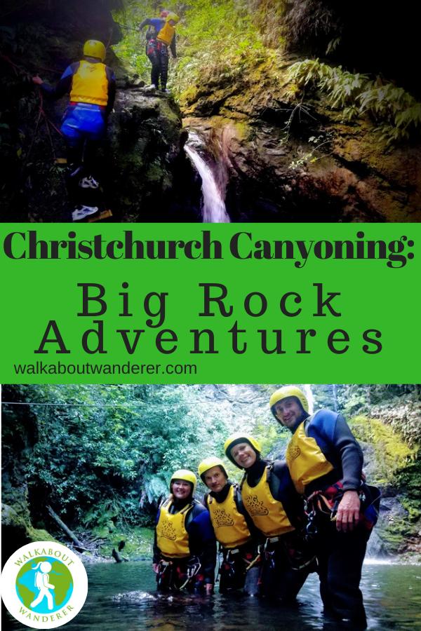 adventure Christchurch Canyoning Christchurch adventure activities New Zealand Big rock adventures